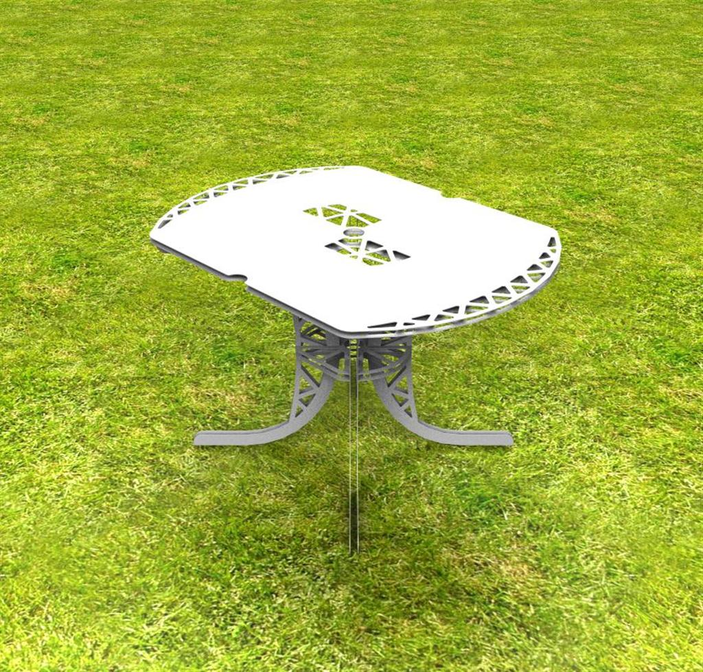 Table de Jardin en Alu brossé | design CAO